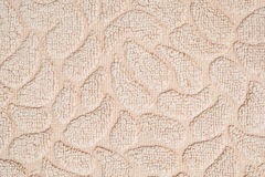 Closeup surface fabric pattern at old brown fabric mat texture background Stock Photo
