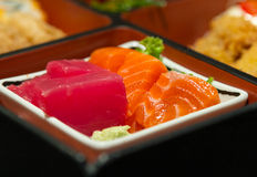 Closeup sushi in box set Stock Image