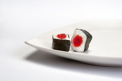 Delicious Sushi Hosomaki. Japanese Traditional Food Royalty Free Stock Photography
