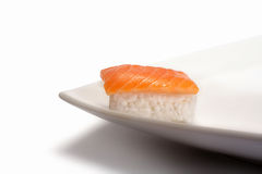 Only Sushi Nigiri. Typical Japanese Food Royalty Free Stock Photos