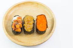 Closeup of a Sushi Roll Stock Photos