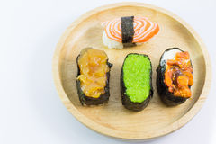 Closeup of a Sushi Roll Stock Photography