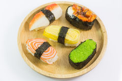 Closeup of a Sushi Roll Stock Photo