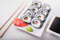 Closeup of sushi rolls Royalty Free Stock Image