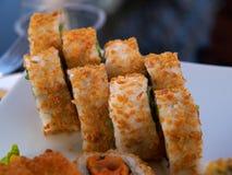 Closeup of Sushi rolls Royalty Free Stock Photos
