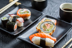 Closeup of sushi for two people Royalty Free Stock Photography