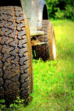 Closeup of SUV tire Royalty Free Stock Image