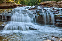 Closeup of Swallow Falls in Swallow Falls State Park, Maryland royalty free stock photos
