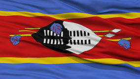 Closeup Swaziland Flag Stock Images
