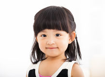 Closeup sweet  little girl face Stock Photos