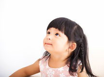 Closeup sweet  little girl face Royalty Free Stock Images