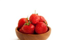 Closeup sweet strawberry Royalty Free Stock Image