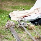 Closeup of swords Stock Photo