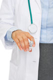 Closeup on syringe in hand of doctor woman Stock Photo