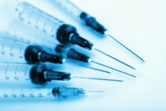 Closeup of syringes Royalty Free Stock Photography