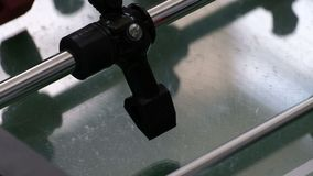 Closeup of a table football figure. Board game of black and red teams. Classic aged foosball table.  stock footage