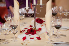 Closeup Of Table Setting Stock Images