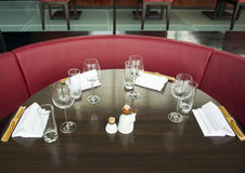Closeup of table setting at a restaurant Royalty Free Stock Photography