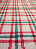 Closeup of Tablecloth with checkered pattern on white background Stock Photography