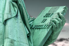 Closeup on the tablet held by the statue of liberty Royalty Free Stock Image