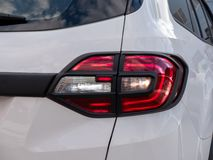Closeup of a taillight on a modern car. Close up of a taillight on a modern car stock images