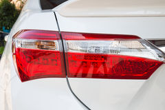 Closeup of a taillight on a modern car Stock Image