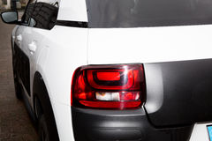 Closeup of a taillight on a modern car Royalty Free Stock Images
