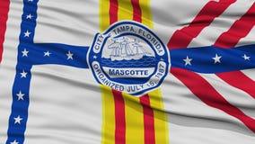 Closeup of Tampa City Flag Royalty Free Stock Image