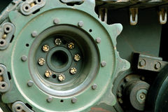 Closeup tank wheels Stock Images