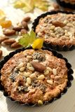 Closeup tartlet with nut filling Stock Images