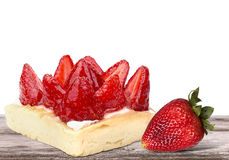 Closeup of tasty dessert with summer fruits Royalty Free Stock Images