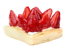 Closeup of tasty dessert with summer fruits Stock Photography
