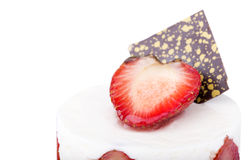 Closeup of tasty dessert with summer fruits Royalty Free Stock Image