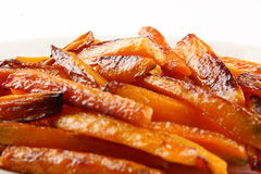 Closeup of Tasty and healthy Baked carrots . Stock Photos