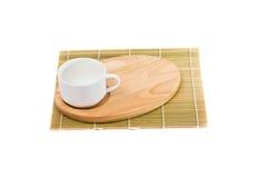 Closeup of tea set on white background Royalty Free Stock Photos