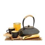 Closeup of tea set Royalty Free Stock Photography