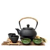 Closeup of tea set Royalty Free Stock Images