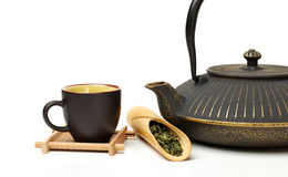 Closeup of tea set Stock Image