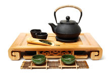 Closeup of tea set Stock Photography