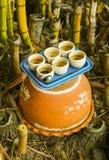 Closeup of Teacup on the pot Stock Photography