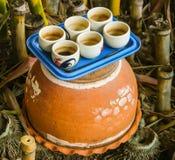 Closeup of Teacup on the pot Royalty Free Stock Image