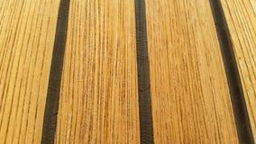Closeup teak decking Stock Images