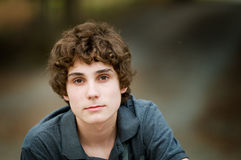 Closeup of a teen boy Royalty Free Stock Photography