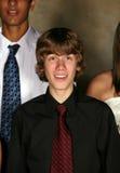 Closeup of teen boy singing Stock Photos
