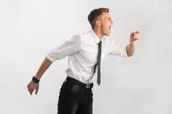 Closeup of a teenager screaming Royalty Free Stock Photos