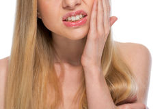 Closeup on teenager with toothache Stock Photos