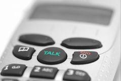 Closeup of a telephone. With Talk and End buttons Stock Photos