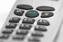 Closeup of a telephone. With its keypad Royalty Free Stock Photo