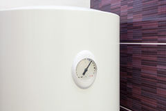 Closeup of temperature sensor in Electric Boiler wall water heater. Stock Photography