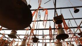 Closeup of Temple bells in Hampi. Closeup of Bells at Hampi Temple stock video